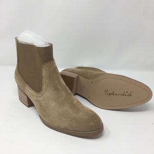 RACHA TAUPE SUEDE BOOTIE
